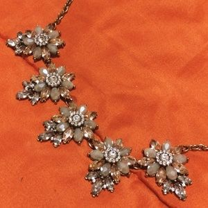 Jewelry - Antique Gold Floral Statement Necklace